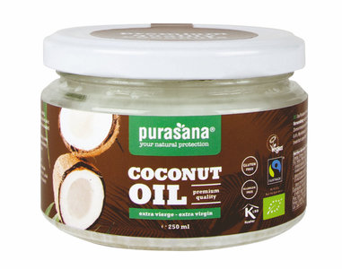 Purasana Kokosolie Olie Extra Vierge 250ml BIO / Fairtrade