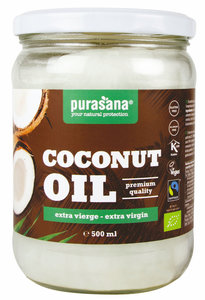 Purasana Kokosolie Olie Extra Vierge 500ml BIO / Fairtrade