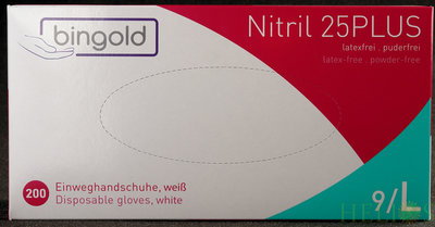 Handschoenen Disposable Nitrile Wit Large - 200 stuks !