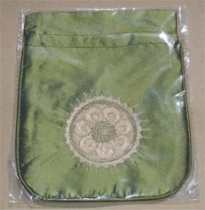 Zakje voor Guasha  schraper (groen)