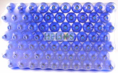 Flesjes 100ml  blauw voordelige TRAY